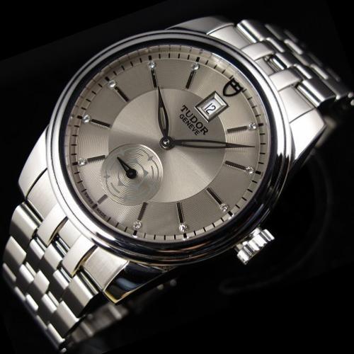 瑞士名表帝舵男表 骏钰运动系列独立小秒全钢钢带金全自动机械手表