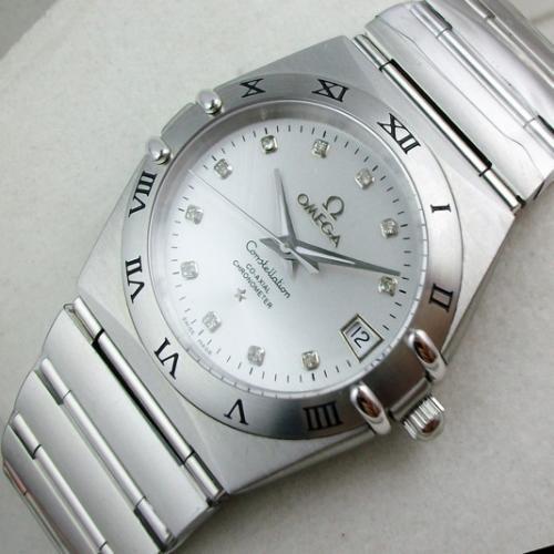 欧米茄OMEGA星座系列手表 自动机械透底钢带男士手表