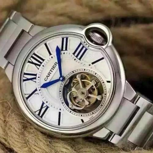 【订金发货】卡地亚Cartier 蓝气球系列 真陀飞轮机械男表 镂空 钢带可佩鳄鱼皮男士手表