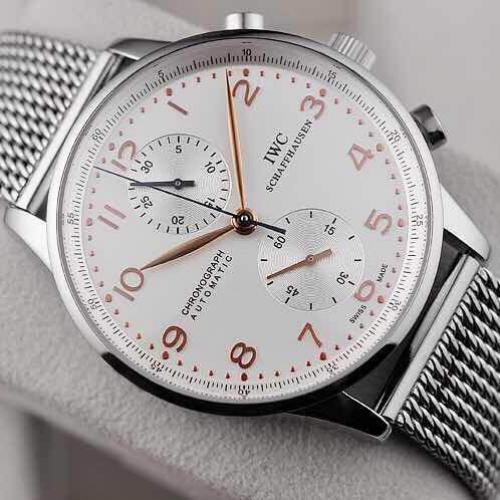 顶级手表 万国IWC男表 瑞士原装7750多功能计时机芯 自动机械男表 密底