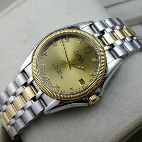 帝陀王子系列包18K金钢带自动机械钻石刻度男士手表