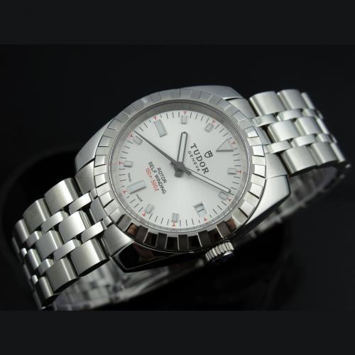 帝陀TUDOR海洋王子系列手表 全钢自动机械男表 白面