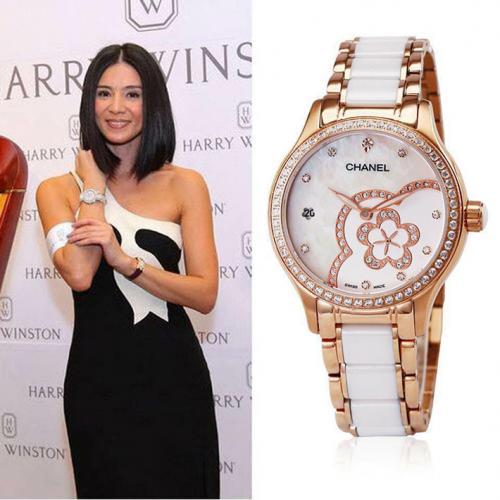 香奈儿chanel 女士自动机械高端腕表 18K玫瑰金 高科技精密陶瓷腕表