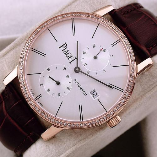 伯爵Piaget男表 ALTIPLANO系列 18K玫瑰金 自动机械透底手表  进口多功能机芯 香港组装
