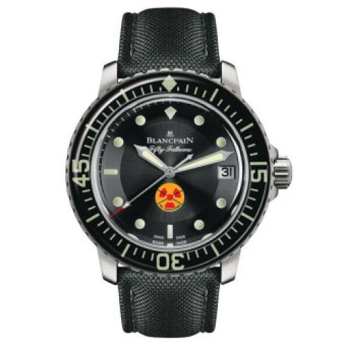 宝珀Blancpain五十噚系列5015B-1130-52 男士自动机械表 带夜光 完美一比一复刻 瑞士机芯 防水腕表