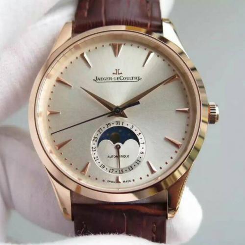 【高端专供】积家Master Chronograph计时大师系列 18K玫瑰金 真日月星辰 腕表男表 全自动机械男士手表