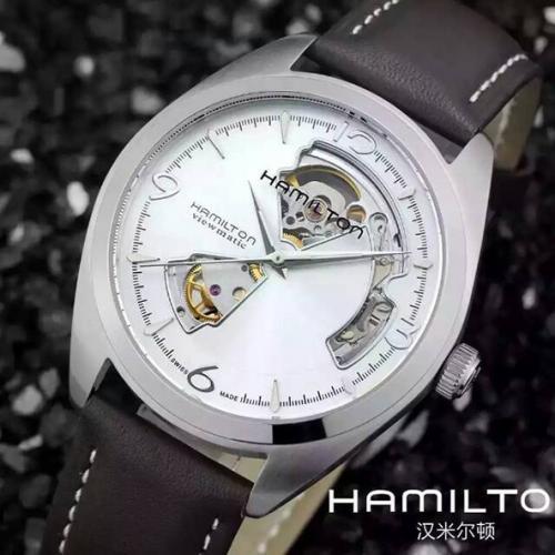汉米尔顿HAMILTON缕空系列手表 进口机芯 超薄 自动机械男表钢带