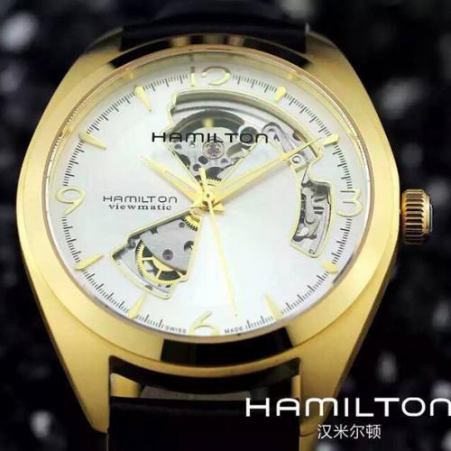 汉米尔顿HAMILTON缕空系列手表 18K金 进口机芯 超薄 自动机械男表钢带