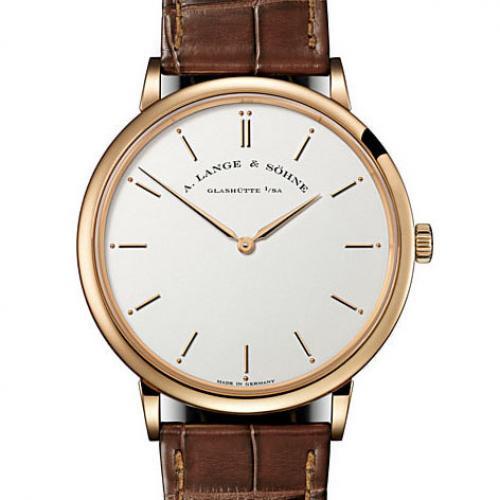 瑞士名表朗格(A. Lange & Söhne)萨克森系列211.032 18K玫瑰金 男士自动机械表手表 高端男士腕表