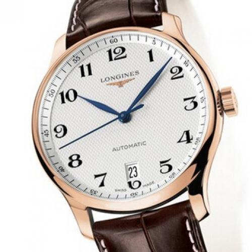 【爆款专供】浪琴(Longines)名匠系列 L2.628.8.78.3 18K玫瑰  皮带款 男士自动机械表手表 高端腕表