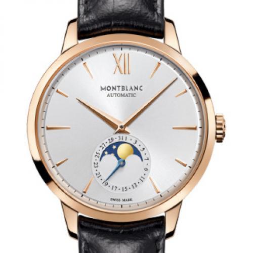 万宝龙 Montblanc  HERITAGE SPIRIT系列U0111185 男士自动机械腕表 18K玫瑰金 真日月星辰