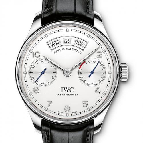 万国IWC 葡萄牙系列年历腕表自动腕表IW503501 白面 自动机械男表