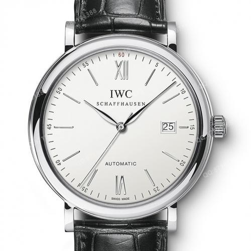 瑞士万国IWC 柏涛菲诺系列iw356501 男表 全自动机械男士透底腕表 进口小牛皮表带 瑞士原装机芯