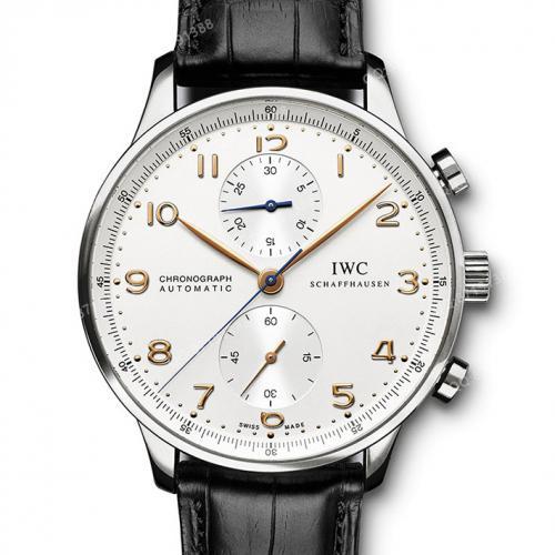 【爆款专供】万国IWC-葡萄牙计时码表 IW371445 瑞士ETA机芯机械男表