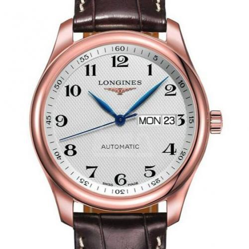 【爆款专供】浪琴(Longines)名匠系列L2.755.8.78.3 18K玫瑰金 双日历  皮带款 男士自动机械表手表 高端腕表