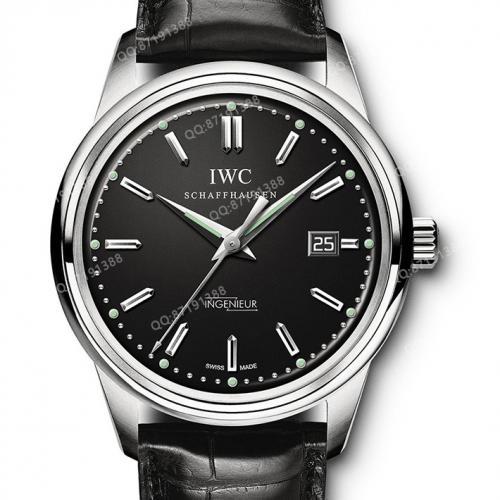 【高端专供】万国IWC 复刻系列(IW323301)黑面 复古工程师  男士自动机械腕表 42.5毫米中大表盘  Cal:80111机芯