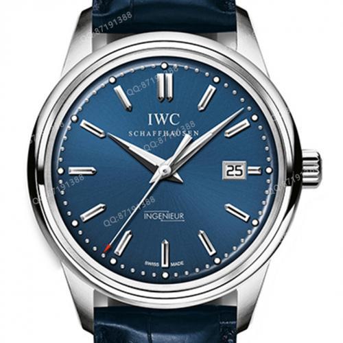 【高端专供】万国IWC 复刻系列(IW323310)蓝面 复古工程师  男士自动机械腕表 42.5毫米中大表盘  Cal:80111机