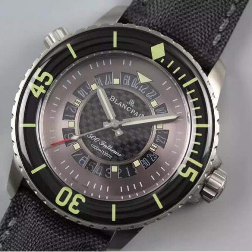 宝珀Blancpain五十噚系列50015 男士自动机械表 商务腕表
