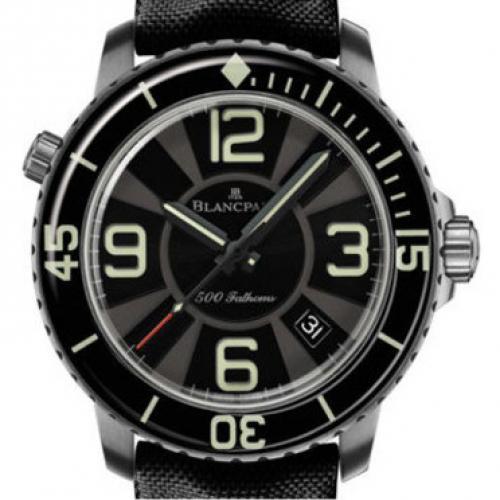 宝珀Blancpain五十噚系列50015-12B30-52B 男士自动机械表 商务腕表