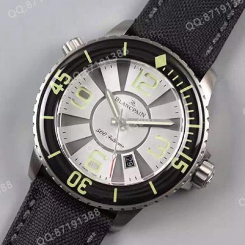 宝珀Blancpain五十噚系列50015-12B30-52B 白面 男士自动机械表 商务腕表
