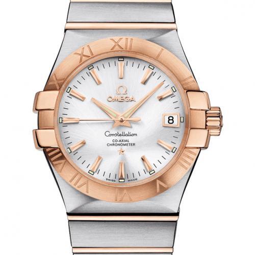 欧米茄手表OMEGA 星座系列123.20.35.20.02.001 自动机械透底18K包玫瑰金男女对表