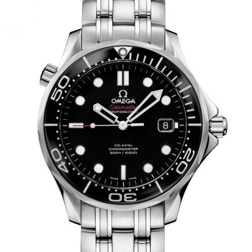 欧米茄OMEGA 海马系列300米潜水表212.30.41.20.01.003 黑面 男士自动机械表