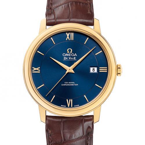 欧米茄OMEGA 蝶飞系列典雅系列腕表424.53.40.20.03.001 18K金 蓝面 男士自动机械表
