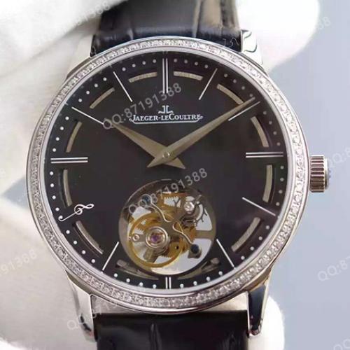 积家Jaeger-LeCoultre 真卡罗素陀飞轮系列 黑面 全自动机械男士手表