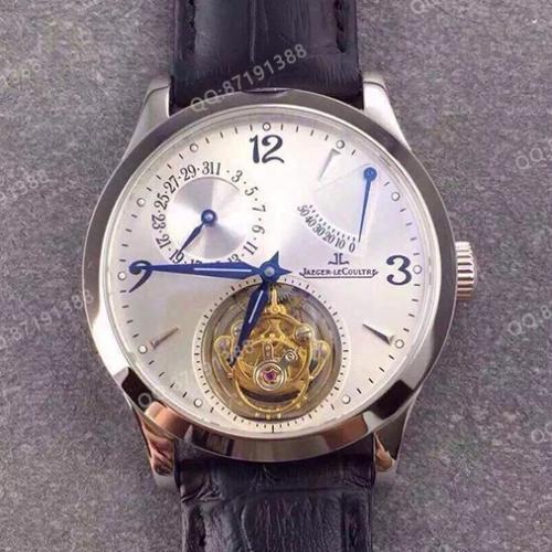 积家Jaeger-LeCoultre 真陀飞轮系列 多功能 白面 全自动机械男士手表