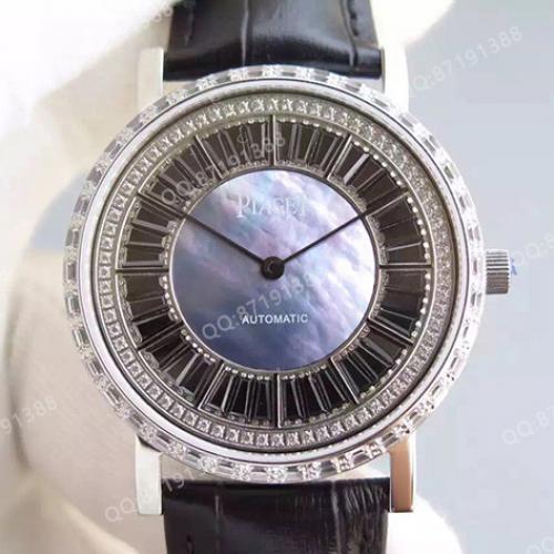 伯爵Piaget男表 ALTIPLANO系列 镶钻 满天星 自动机械透底 厚度仅7.5mm 香港组装