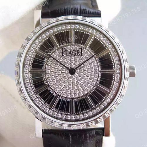 伯爵Piaget男表 ALTIPLANO系列 满天星 全镶钻  自动机械透底 厚度仅7.5mm 香港组装
