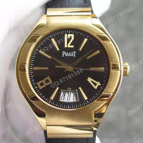 伯爵Piaget Polo系列腕表G0A38149 18K金 黑面  男士自动机械手表
