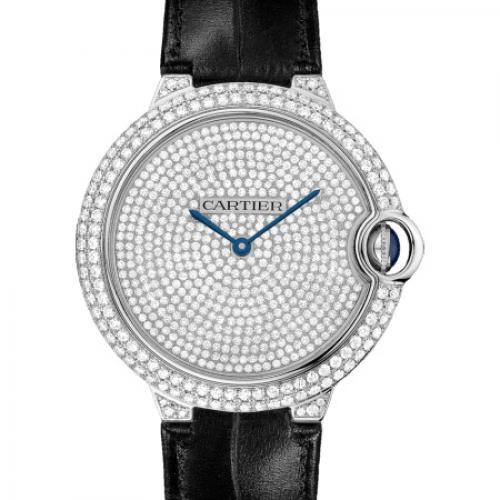 卡地亚Cartier 蓝气球系列WE902049 镶钻 满天星 全自动机械男士手表
