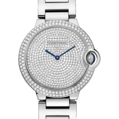 卡地亚Cartier 蓝气球系列WE902045 镶钻 满天星 全自动机械男士手表