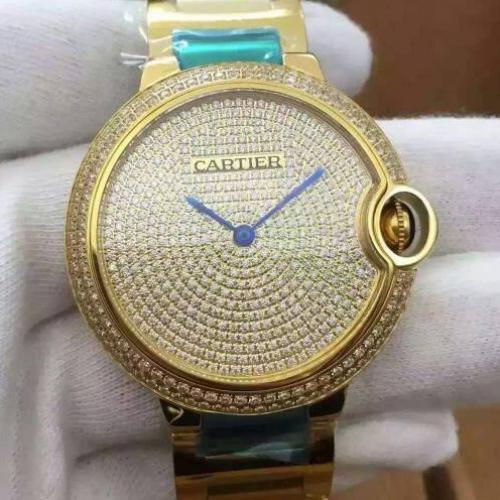 卡地亚Cartier 蓝气球系列WE902045 镶钻 18K金 满天星 全自动机械男士手表