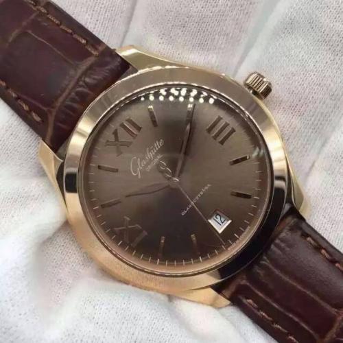 格拉苏蒂 Glashütte Original Senator 参议员系列卓越 18K玫瑰金棕面 男士自动机械手表  香港组装