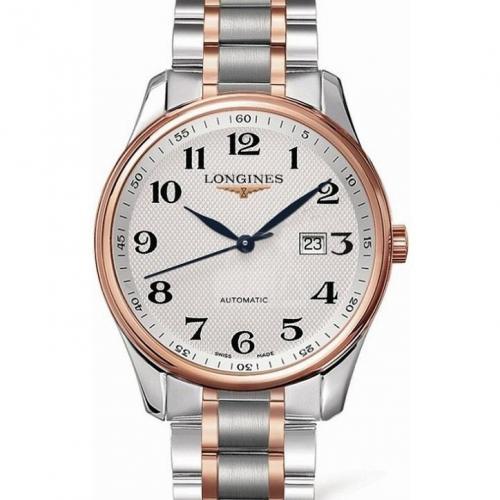 浪琴(Longines) 名匠系列 L2.893.5.79.7  18K玫瑰金 钢带皮带通用 男士自动机械表手表 高端腕表