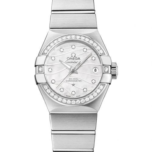 【爆款女表】欧米茄OMEGA 星座系列123.15.27.20.55.002  钢带女士透底自动机械手表 香港组装