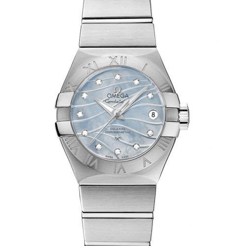 【爆款女表】欧米茄OMEGA 星座系列123.10.27.20.57.001 钢带女士透底自动机械手表 香港组装
