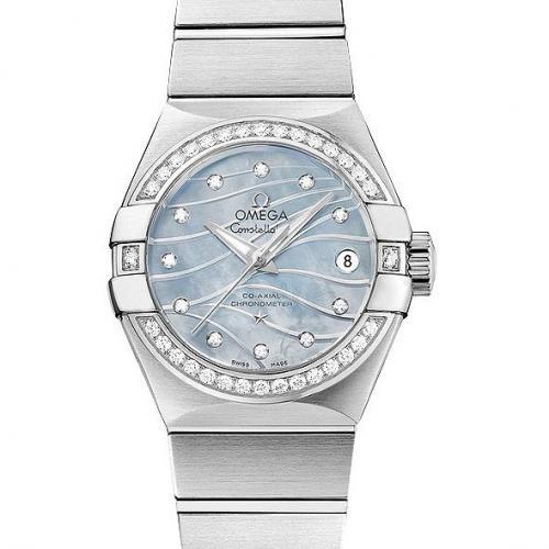 【爆款女表】欧米茄OMEGA 星座系列123.15.27.20.57.001  钢带女士透底自动机械手表 香港组装