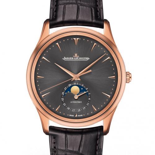【高端专供】积家Master Chronograph计时大师系列(Q136255J) 18K玫瑰金 黑面  真日月星辰 全自动机械男士手表