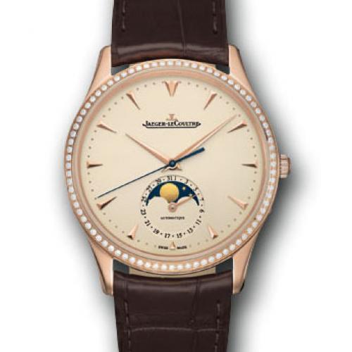 【高端专供】积家Master Chronograph计时大师系列(1362520) 18K玫瑰金 镶钻  真日月星辰 全自动机械男士手表