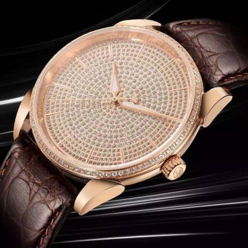 帕玛强尼(Parmigiani Fleurier) Tonda系列 18K玫瑰金 满天星 男士自动机械表手表(配一条鳄鱼皮)