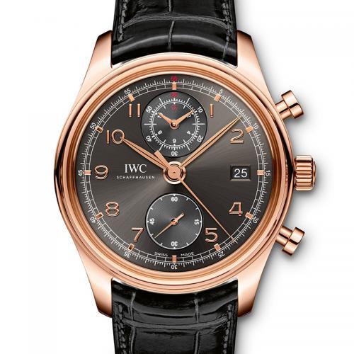 IWC 万国 葡萄牙计时系列IW390405 18K玫瑰金 灰面 男士自动多功能机械腕表