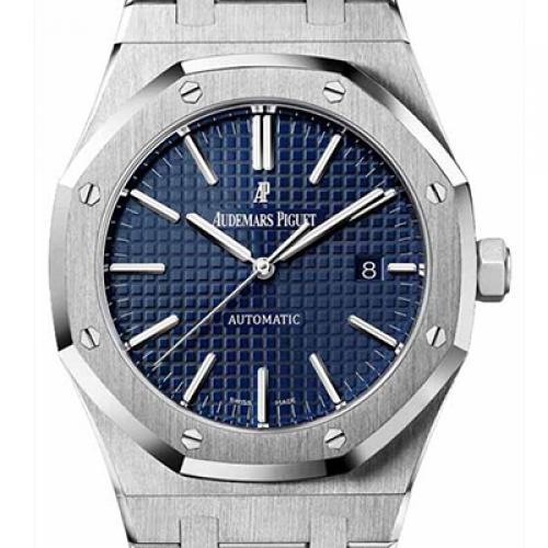 爱彼-Audemars Piguet 皇家橡树系列 Royal Oak 15400ST.OO.1220ST.03 蓝面 男士机械手表