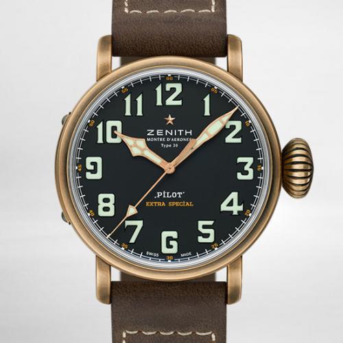 【爆款专供】真力时(Zenith)飞行员系列TYPE 20 EXTRA SPECIAL系列  29.2430.679/21.C753 青铜  男士自动机械腕表