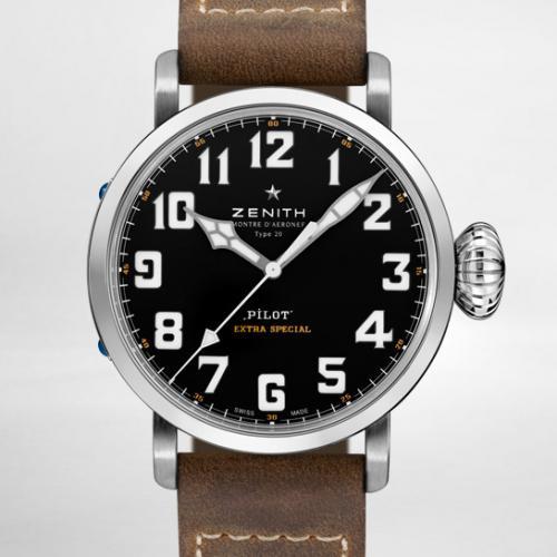 【爆款专供】真力时(Zenith)飞行员系列TYPE 20 EXTRA SPECIAL系列  03.2430.3000/21.C738   男士自动机械腕表