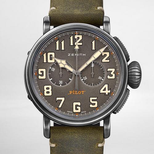 【新款专供】真力时(Zenith)飞行员系列TON-UP系列 11.2430.4069/21.C773  男士自动机械腕表
