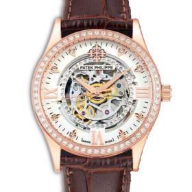 【顶款专供】百达翡丽Patek Philippe 全缕空 18K玫瑰金 男士自动机械手表 进口机芯 香港组装