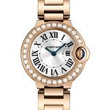 卡地亚Cartier 蓝气球Ballon Bleu系列WE9002Z3 18K玫瑰金 镶钻 瑞士石英女士手表